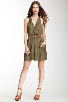 Love Stitch Faux Wrap Racerback Dress by Bold & Dark: Fall's Top Colors on @HauteLook