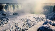 One of my favorite places, but not like this! Niagara Falls Isn't Frozen--But It's Getting There, And It's Beautiful