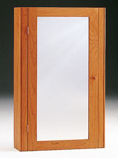 Shaker Wall Cupboard With Mirror