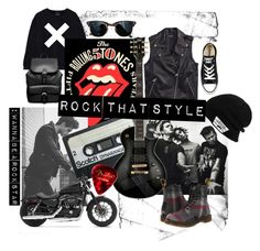 """""""Rock"""" by irenpodstegina on Polyvore featuring мода, Converse, Ray-Ban, Tommy Hilfiger, ASOS, Vans, Harley-Davidson и Dr. Martens"""