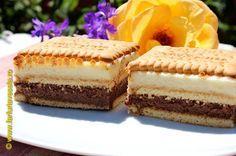 Farfuria vesela: Prajitura cu biscuiti si crema de lapte