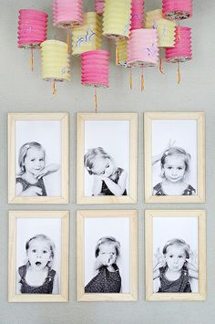 Make an adorable gallery wall of your child!