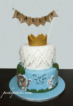This next birthday cake takes us back to our childhood library and the classic Where the Wild Things Are bo...