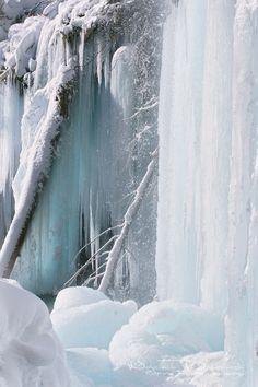 Frozen Hanging Lake, Glenwood Canyon, Colorado.