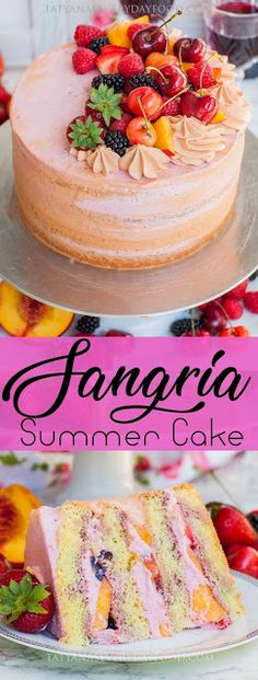 Summer Fruit Sangria Cake Recipe (video) – Tatyanas Everyday Food Summer Fruit Sangria Cake Recipe (video) – Tatyanas Everyday Food,Veganize this – Zeig uns deine vegane Version! sangria cake pinboard Related posts:What a beautiful. Mini Desserts, Just Desserts, Dessert Recipes, Plated Desserts, Dessert Ideas For Party, Delicious Cake Recipes, Food Cakes, Cupcake Cakes, Fruit Cakes