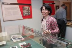 Mayor of Cambridge, Cllr Sheila Stuart, enjoying the new exhibition 'A Soviet Design for Life'.  Photo thanks to @sircam, via Flickr