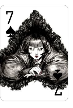 "Photo from album ""Модные игральные карты Connie Lim."" on Yandex. Printable Playing Cards, Playing Cards Art, Dark Artwork, Deck Of Cards, Card Deck, Art Images, Fantasy Art, Illustration Art, Beauty Illustrations"