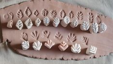 Pottery Kiln, Pottery Art, Pottery Studio, Clay Stamps, Handmade Stamps, Hand Built Pottery, Ceramics Projects, Polymer Clay Crafts, Ceramic Clay