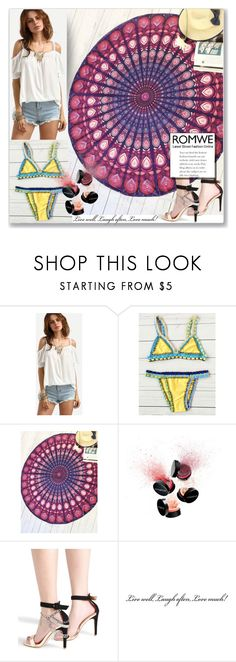 """""""ROMWE 7"""" by melissa995 ❤ liked on Polyvore featuring Smashbox and vintage"""