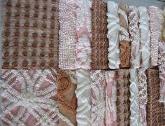20 Vintage Chenille Bedspread precut 6 inch by masonscottage, $21.00