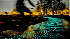 "The bike path as artwork is gaining in popularity. The kilometer-long ""Van Gogh-Roosegaarde"" cycle path, in the Netherlands, is inspired by Van Gogh's ""Starry Night"" and features 50,000 glow-in-the-dark stones, which have been embedded in the ground."