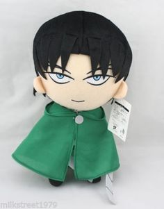 "Rare Attack On Titan Anime Shingeki No Kyojin 12"" Levi / Rivaille Plush Doll Toy     ALLMYYES #RightStuf2013"