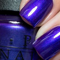 The seductive colour between blue ana purple! Get your nails done at Fairynails!
