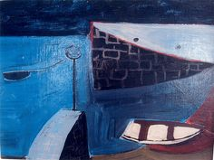 William Scott, Harbour, Cornwall, 1948, Oil on board, 26.7 × 35.6 cm / 10½ × 14 in, Private collection