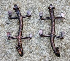 hand made rebar gecko hooks