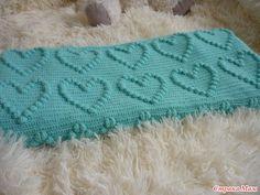 ergahandmade: Crochet Blanket With Hearts + Diagrams + Video Tutorial