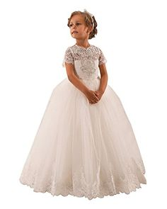 First Communion Dress · Beading Ruffle Puffy Tulle Ball Gowns Flower Girl  Dresses... https    67eadf4a5862