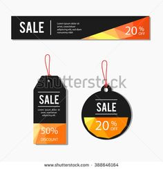 sale labels set with low poly background - stock vector