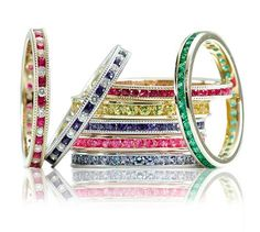 What a great alternative to wearing your wedding band. You can stack these. Kids, Mom and Dad birthstones.Mothers Ring Idea.