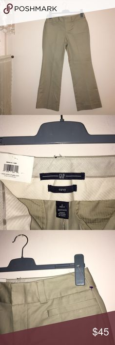 👖Gap Curvy Ankle👖 👖👖👖 A Size 8 Stretchy Gap Pants for curvy women. It says Ankle, but will fit a woman 5 foot 6, the BEST! These pants are brand new with tags still attached. It has never been worn. These are the perfect paring with: fitted scoop neck tops, sweaters or long-sleeve collared shirts. Any questions? Feel free to inquire... I'm more than happy to help! All reasonable offers will be considered. 👖👖👖 GAP Pants Trousers