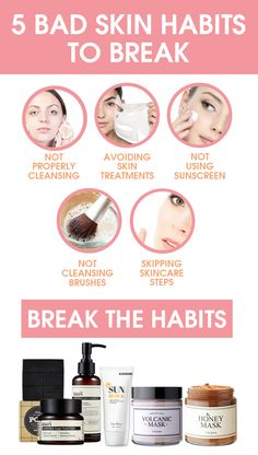 Having bad skin isn't fun and can make us feel insecure. Breaking these 5 bad skin habits can make a big difference for your skin so you can feel your best. #AcneAndOilySkin