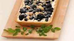 Mustikkapiirakka jogurttitäytteellä