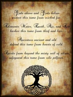 Book of Shadows: #BOS Book of Shadows Blessing/Protection page. - Pinned by The Mystic's Emporium on Etsy