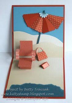 SU peekaboo frame pop up beach chair tutorial by Betty Traciak