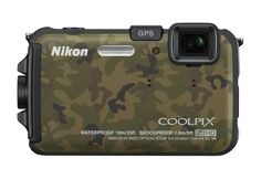 Nikon COOLPIX AW100 16 MP CMOS Waterproof Digital Camera with GPS and Full HD 1080p Video (Camouflage) (OLD MODEL). Water-proof, Shock-proof, Freeze-proof: ruggedly built for reliable and comfortable outdoor operation. Water-proof to a depth of 33 feet. Shockproof if dropped from 5 ft, operating temperature down to 14 degrees F. 16 effective megapixel CMOS sensor ideal for low light shooting and fast operation. GPS and e-Compass functions. Points of Interest (locations, landmarks, etc.)…