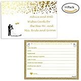 """Neepanda Wedding Advice Cards & Well Wishes for the Bride and Groom, (50 Pack, 3.5"""" X 6"""") Wedding Decorations Games, Bridal Shower Games, Wedding Guest Book Alternative, Perfect for Wedding  Neepanda Wedding Advice Cards & Well Wishes for the Bride and Groom, (50 Pack, 3.5"""" X 6"""") Wedding Decorations Games, Bridal Shower Games, Wedding Guest Book Alternative, Perfect for Wedding Product DescriptionBrand: Neepanda Wedding Advice Cards Suitable:Wedding Party Color:Mixed Color Size:3.5″ .."""