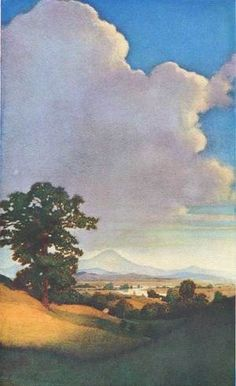 Maxfield Parrish for Century Magazine - 1904 Ahh- California! Robert Motherwell, Richard Diebenkorn, Jackson Pollock, Keith Haring, Landscape Art, Landscape Paintings, Oil Paintings, New Hampshire, Maxfield Parrish