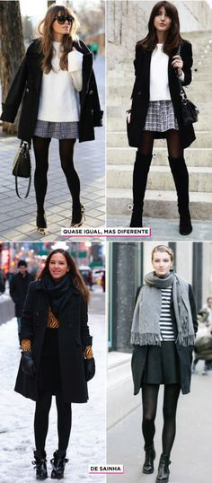 12 Trending Outfits On The Street inverno-looks-ny-neve-inspiracoes-ideias-styling-como-se-vestir-no-frio The Best of fashion trends in Winter Fashion Outfits, Fall Winter Outfits, Winter Dresses, Autumn Winter Fashion, Dress Winter, Winter Tights, Winter Looks, Winter Style, Fashion Moda