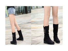 รองเท้าบู๊ทแฟชั่นเกาหลี หนังกลับสวยนำเข้า มี2สี พรีออเดอร์HS129-9 โทรสั่งรองเท้าแฟชั่นได้ที่ WWW.LOTUSNOSS.COM, shoes fashion available on www.lotusnoss.com