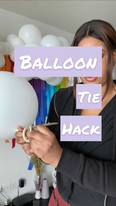 lilytheswan on Instagram: The one life hack you didn't know existed! We kind of broke Tik Tok with this one 🙈 . . . . #clublts #balloongarland #balloondecor… Balloon Garland, Balloon Decorations, Balloons, Handy Tips, Helpful Hints, Diy Party, Party Ideas, One Life, Tik Tok