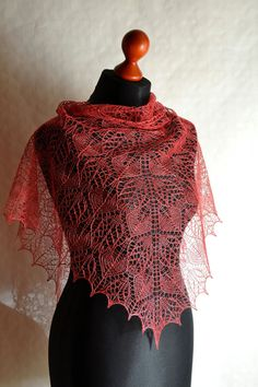 Lace shawl pattern  Instant download PDF knitting by ShleepYarns, €6.00