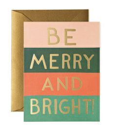 Image of Be Merry and Bright Holiday Card Set