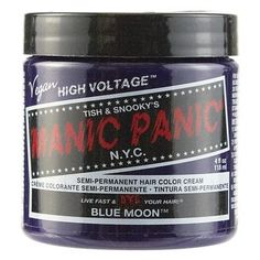Manic Panic Semi-Permanent Hair Color Cream Blue Moon