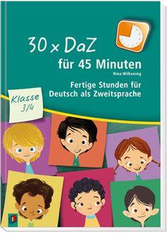 30 x DaZ für 45 Minuten - Klasse 3/4 - Fertige Stunden für Deutsch als Zweitsprache ++ #Unterrichtsmaterial für Lehrer an #Grundschule und #Förderschule sowie für sonstige Sprachförderkräfte, Klasse 3–4, Fächer: Deutsch, #DaZ, #Sprachförderung ++ 30 sofort umsetzbare Stunden + Auf jeweilige Jahrgangsstufe zugeschnitten + Als Einzelstunden oder als Mini-Einheiten durchführbar + Quantitativ und qualitativ differenziert + Auch für sehr heterogene Gruppen geeignet | #Wortschatz #Grammatik…