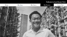 The People's Action Party tribute page to Mr Lee Kuan Yew at http://www.tributetolky.org.