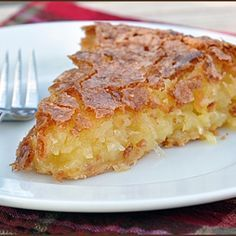 French Coconut Pie Recipe - ZipList
