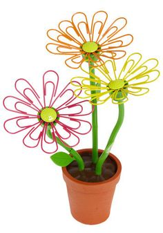 Flowers we couldn't kill...and a little easier than paper clip statues