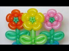 Цветок из шаров, пять лепестков / Five petals flower of one balloon twisting - YouTube