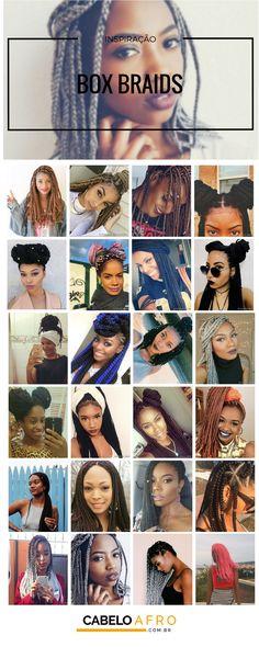 Como fazer box braids   penteados para se inspirar