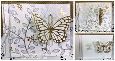 Springtime Foils Specialty Designer Series Paper, Stampin' Up! Butterfly Cards Handmade, Homemade Watercolors, Slider Cards, Fun Fold Cards, Birthday Cards For Men, Butterfly Wings, Sympathy Cards, Homemade Cards, Stampin Up Cards
