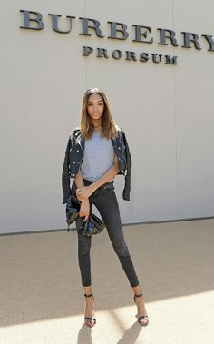 Perfect moto jacket with grey T and black skinnies. snob