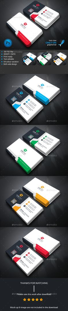 Corporate Business Card Template PSD #design Download: http://graphicriver.net/item/corporate-business-card/13934769?ref=ksioks