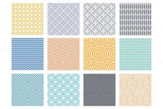 Linear patterns and frames by venimo on Creative Market