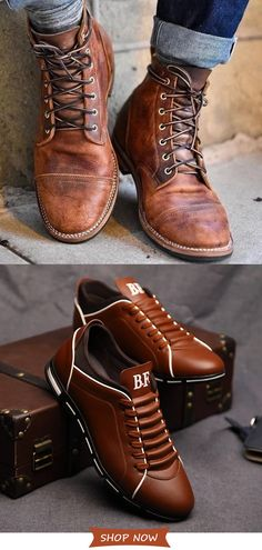 Men& Casual Shoes On Sale.Hot Style√ Plus Size√ Good Quality√ Comfy√Time-limited√Shop now! Mens Shoes Boots, Mens Boots Fashion, Shoe Boots, Casual Shoes, Men Casual, Stylish Mens Outfits, Mens Clothing Styles, Free Shipping, Small Bathroom