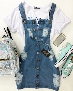 Teenager Outfits - Welcome Pikide Girls Fashion Clothes, Teen Fashion Outfits, Swag Outfits, Mode Outfits, Outfits For Teens, Baby Outfits, Skirt Outfits, Fashion Fashion, Cute Summer Outfits