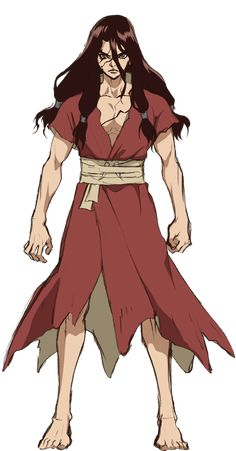 CHARACTER | アニメ「Dr.STONE(ドクターストーン)」公式HP Manga Anime, Anime Guys, Anime Art, Character Concept, Character Design, Copic Drawings, Naruto Vs Sasuke, Stone World, Anime Characters